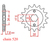 15 tooth front sprocket  Shadow and Honda XLV 125-unlimited-power-